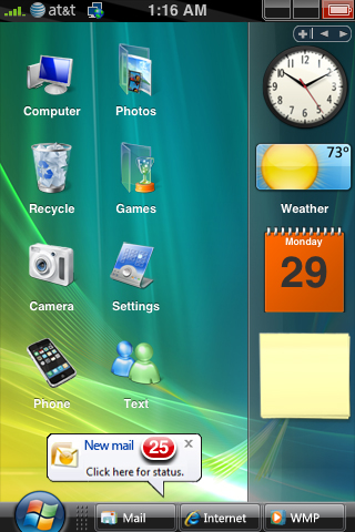 Make your iPhone UI look like Windows Vista.